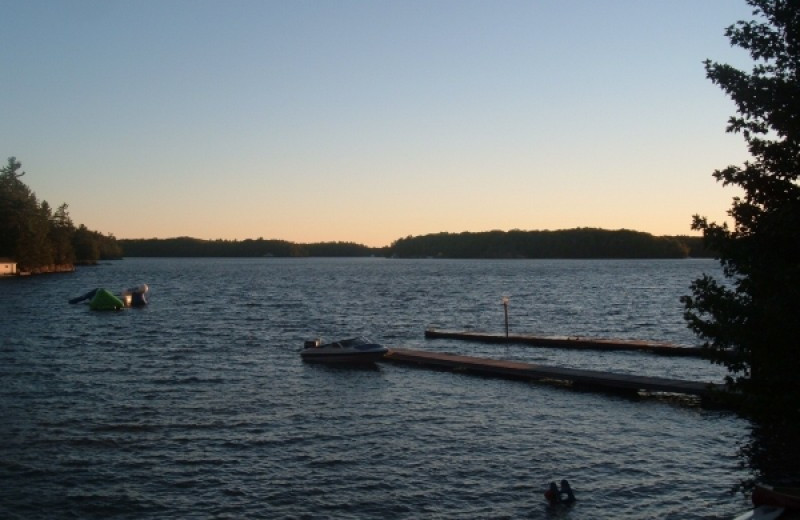 Lake view at Paquana Cottage Resort.
