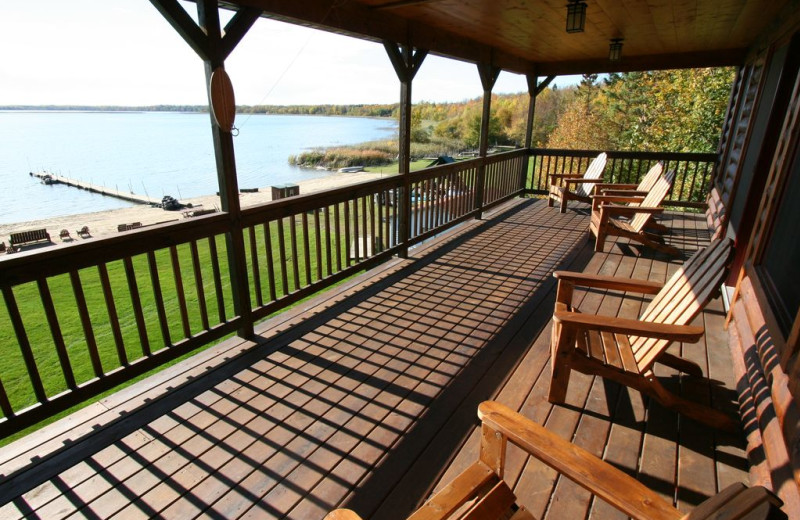 Deck at White Birch Resort.