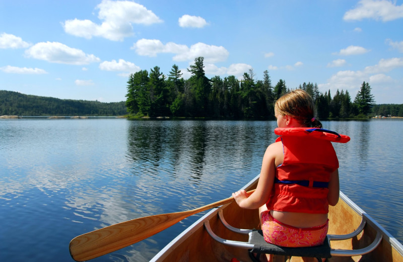Canoeing at Highland Lake Resort.