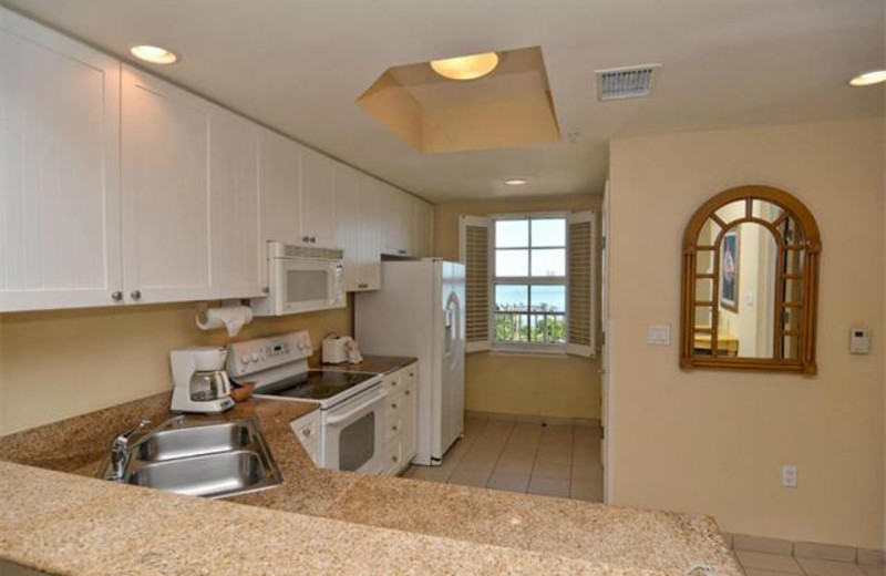 Rental kitchen at Tri Power Resort Rentals.