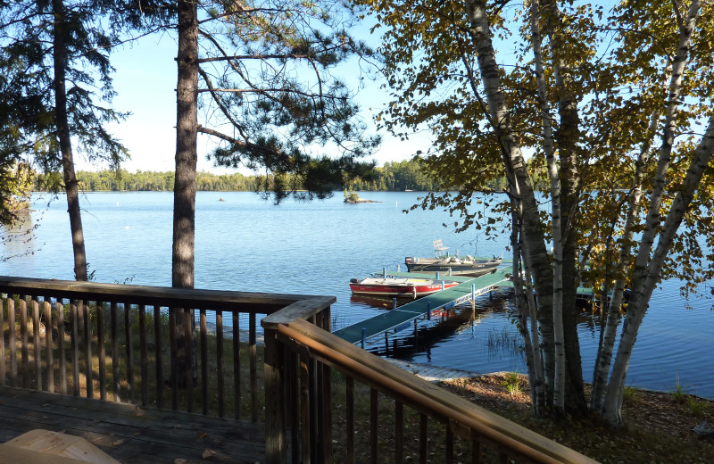 Deck view of lake at River Point Resort & Outfitting Co.