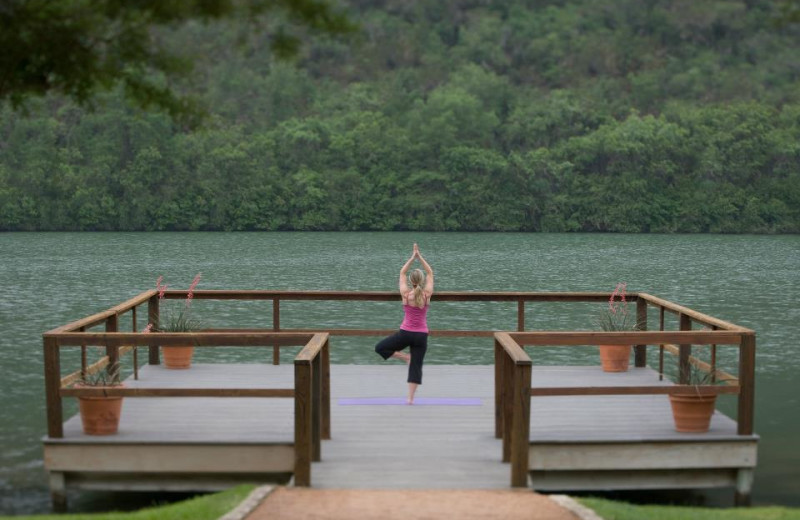 Yoga Dock at Lake Austin Spa Resort