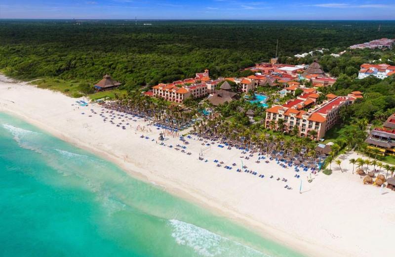 The beach at Sandos Playacar Riviera Hotel and Spa.