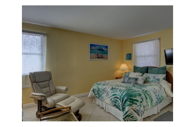 Guest room at Gulf Winds Resort Condominiums.