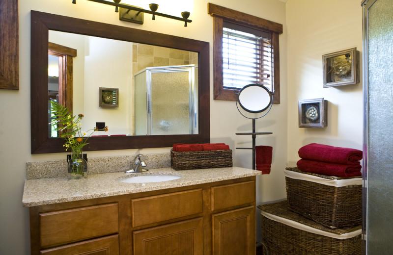 Rental bathroom at Owaissa Club Vacation Rentals.