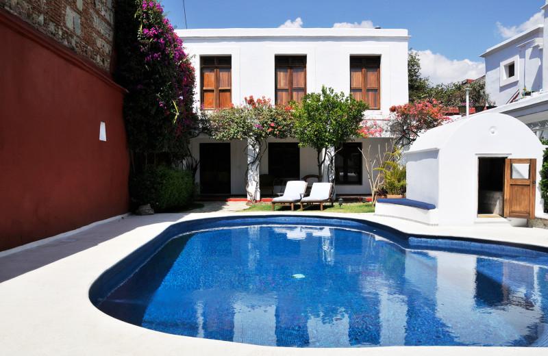 Outdoor pool at Casa Oaxaca.