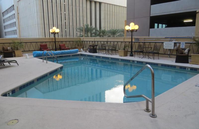 Outdoor pool at Hotel San Carlos.