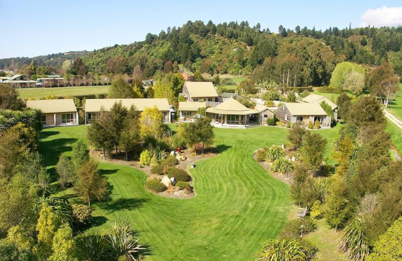Exterior view of Abel Tasman Marahau Lodge.