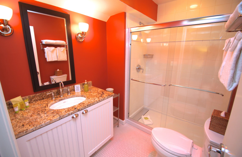 Guest bathroom at Ocean Edge Resort & Club on Cape Cod.
