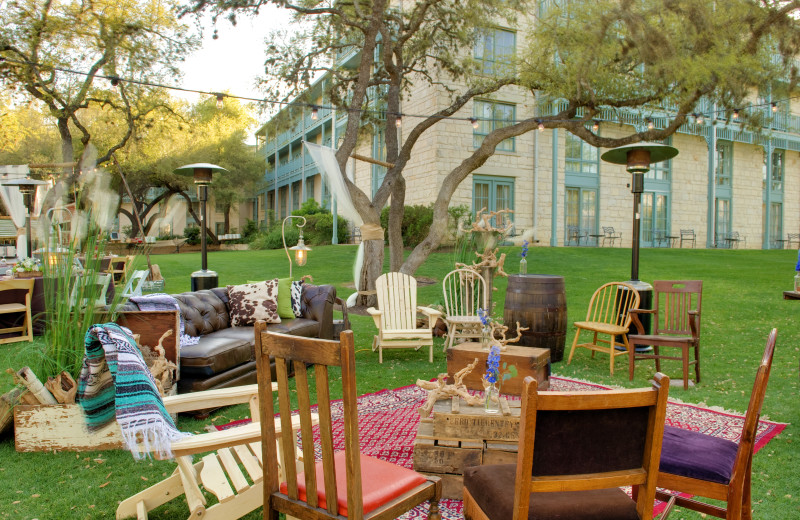 Patio at Hyatt Regency Hill Country Resort and Spa.