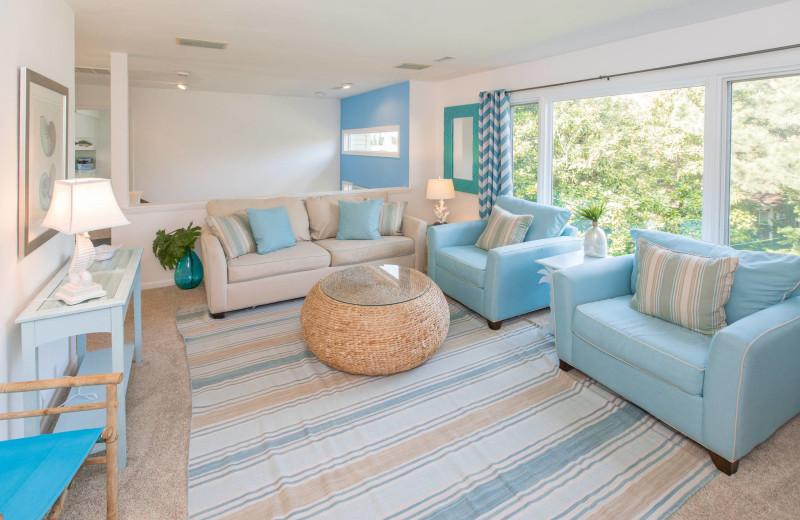 Rental living room at Atkinson Realty.