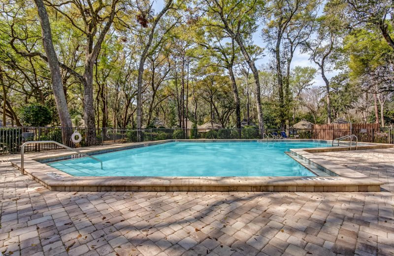 Rental pool at Amelia Rentals and Management Services.