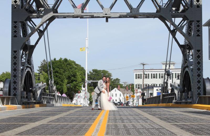 Wedding couple at Whaler's Inn.