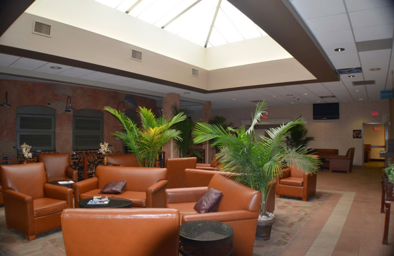 Lobby sitting area at Ambers Resort and Conference Center.