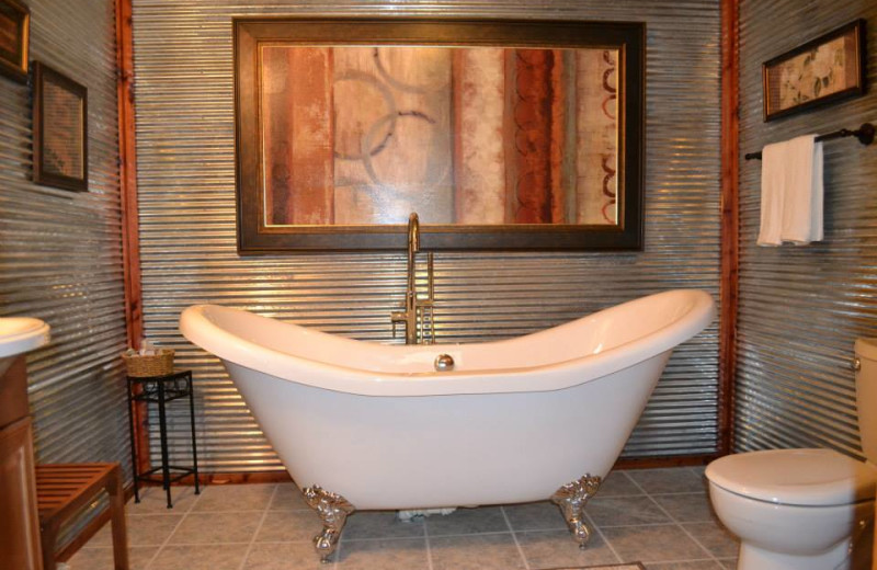 Suite bathroom at Panther Valley Ranch.