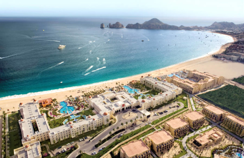 Aerial view of RIU Palace Cabo San Lucas All Inclusive.