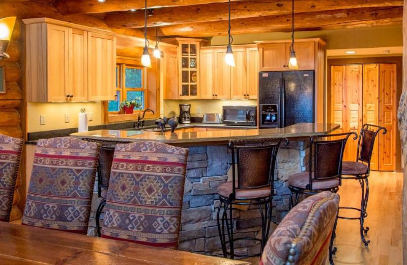 Rental kitchen at Smoky Mountain Getaways.