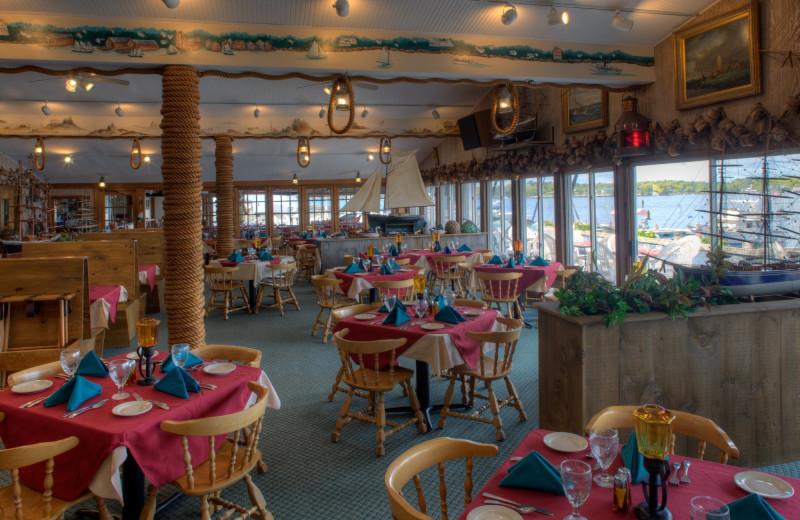 Dining at Brown's Wharf Inn.