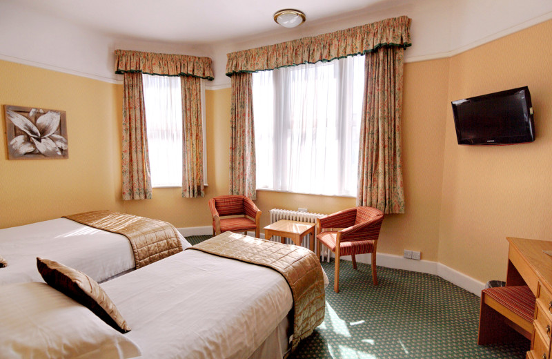 Guest room at The Trouville Hotel.