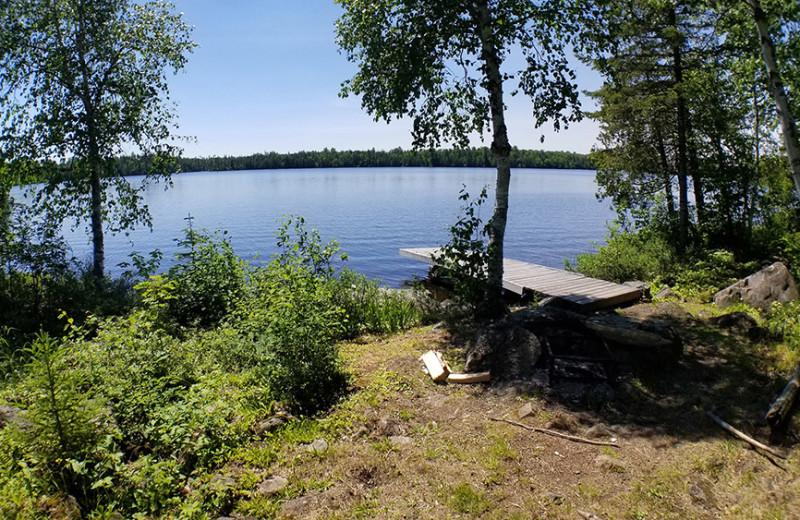 Lake view at Nor'Wester Lodge