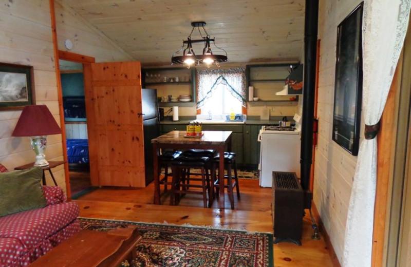 Cottage kitchen at HighWinds Lodge & Cottages.