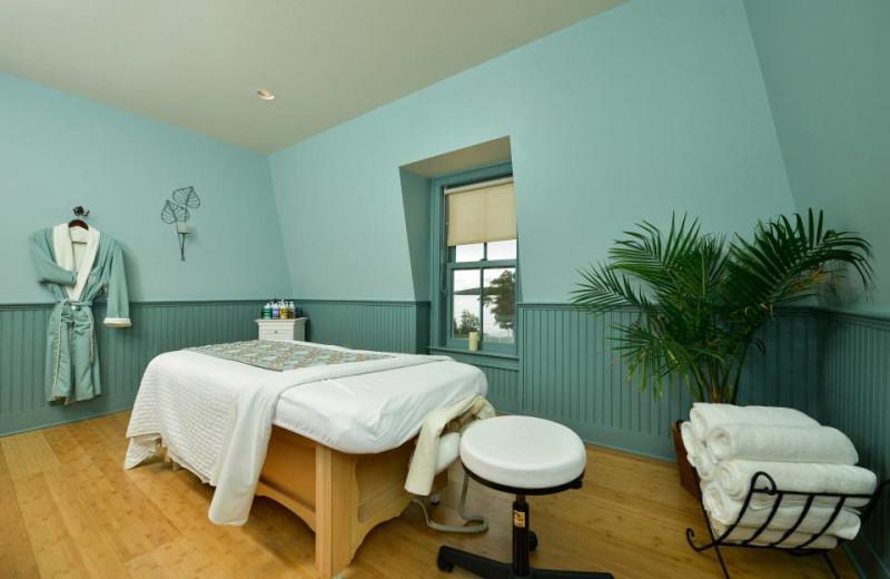 Spa massage table at Bar Harbor Inn & Spa.