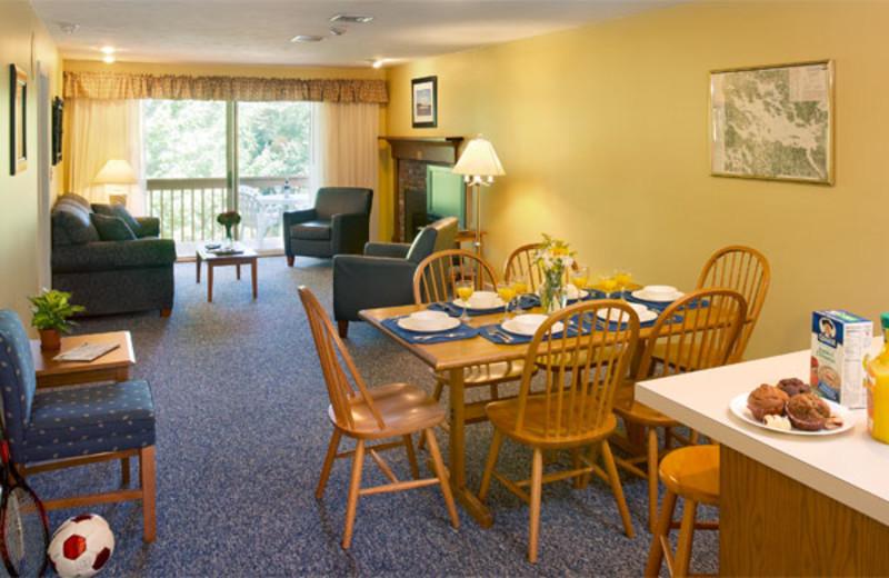 Guestroom interior at Summit Resort.