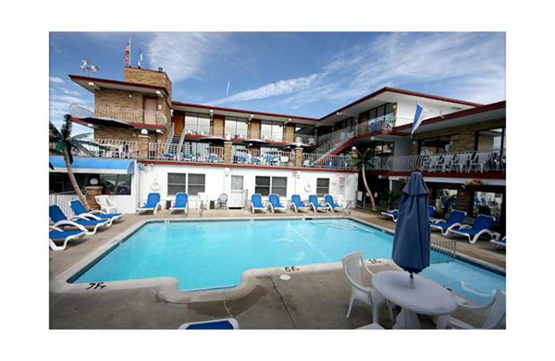Outdoor pool at Florentine Family Motel.