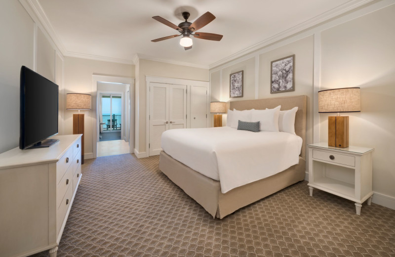 Guest room at Jekyll Ocean Club.