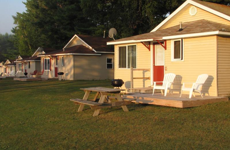 Cabins at Deer Lake Resort.