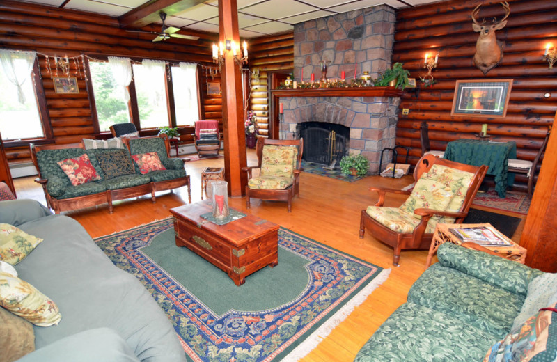 Lodge lounge at Barker Lake Lodge.