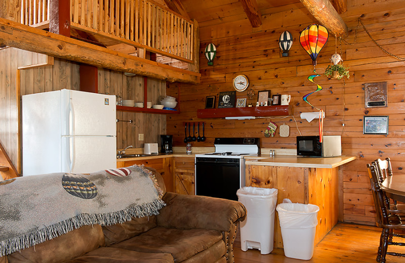 Cabin kitchen at Buffalo Outdoor Center.