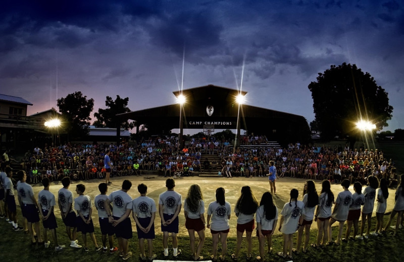 Groups at Camp Champions on Lake LBJ.