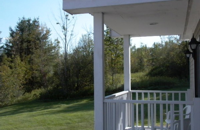 Porch view at The Inn at Willow Pond.