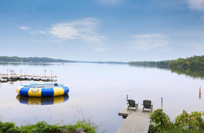 Lake view at Ruttger's Bay Lake Lodge.