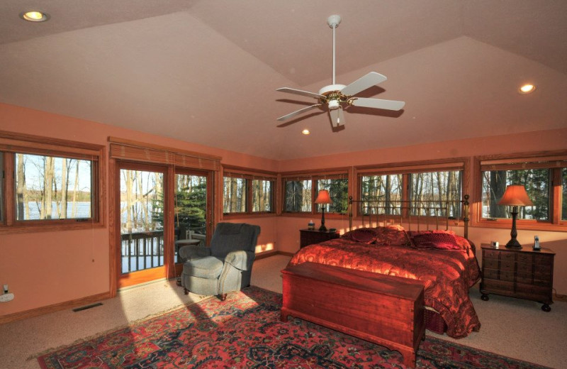 Rental bedroom at Deep Creek Vacations
