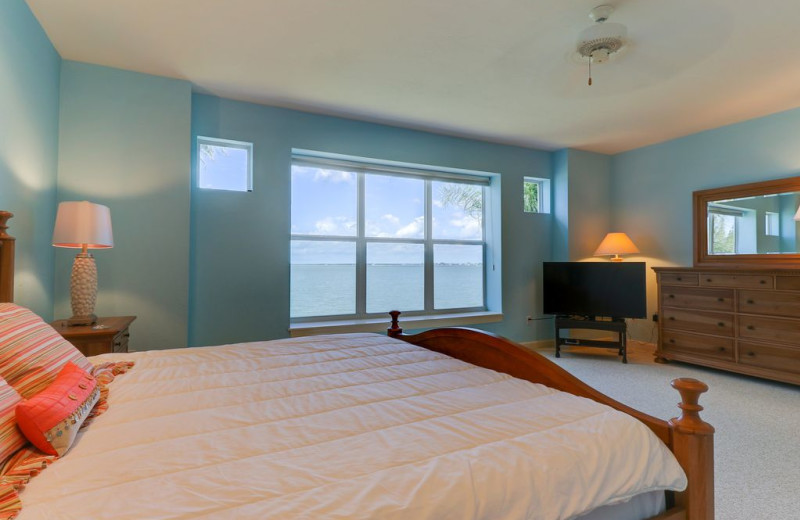 Rental bedroom at Sanibel Vacations.
