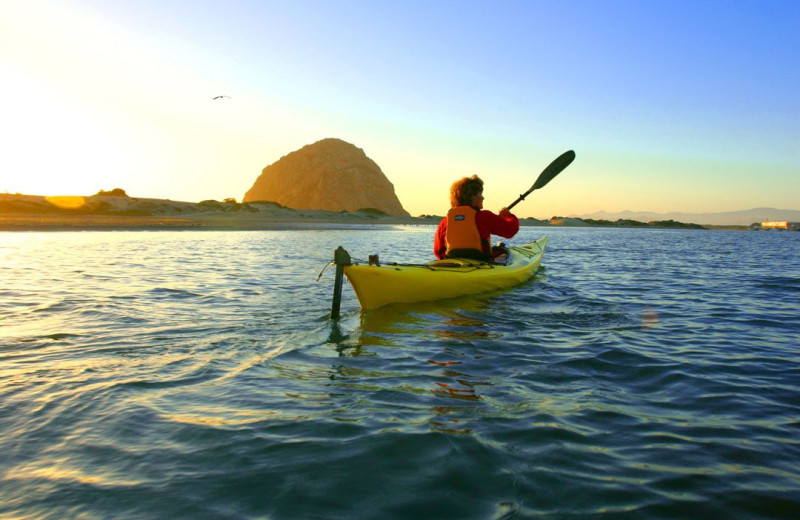 Kayaking near Pismo Lighthouse Suites
