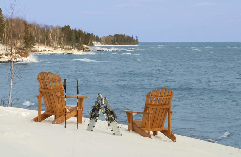 Winter at Grand Superior Lodge on Lake Superior.