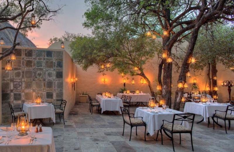 Dining at Ngala Game Lodge.