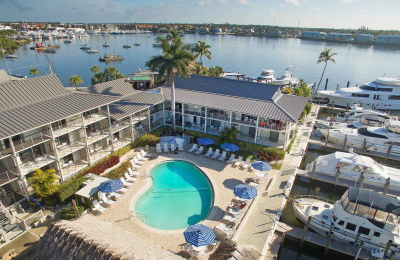 Outdoor pool at Cove Inn on Naples Bay.