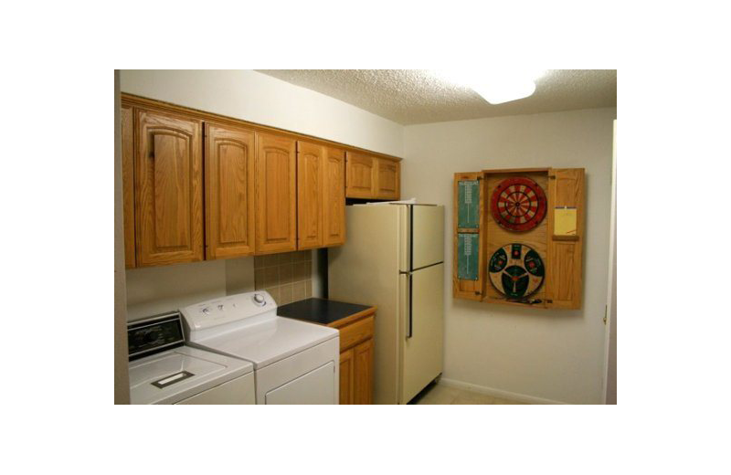 Rental laundry room at Oak House On Lake LBJ.