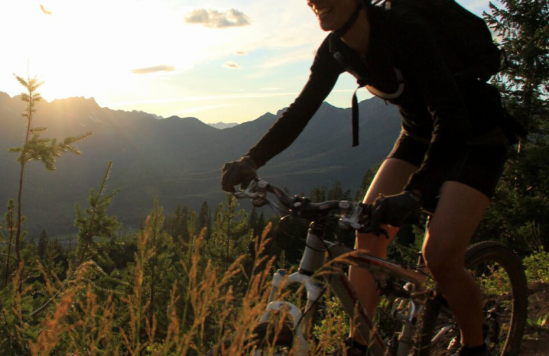 Biking at Fernie Central Reservations.