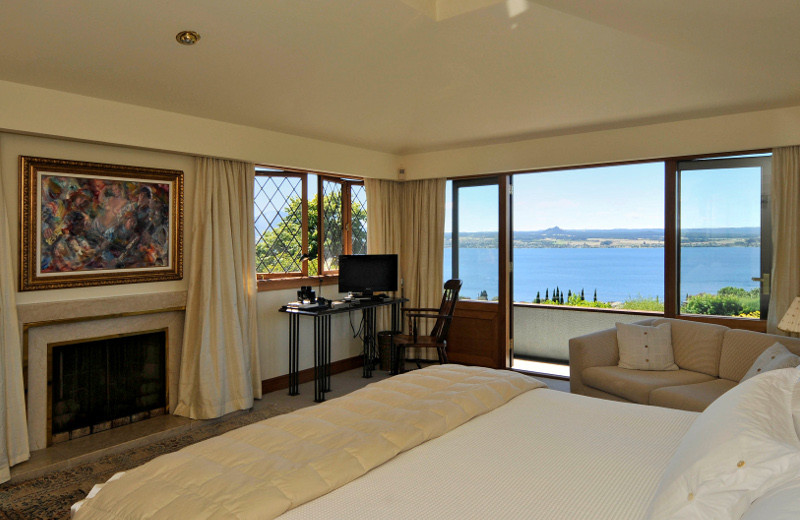 Guest room at Lake Taupo Lodge.