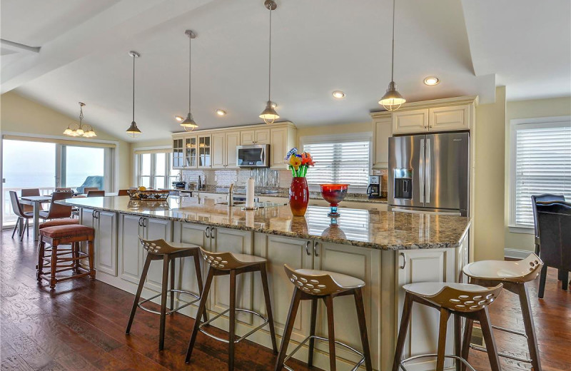 Rental kitchen at Long & Foster Vacation Rentals -Bethany Beach.