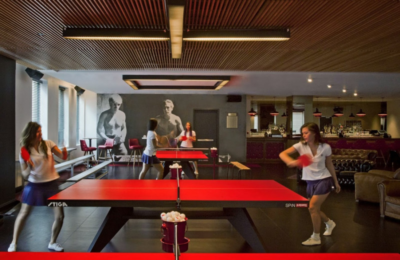 Recreation room at The Standard, Downtown LA.