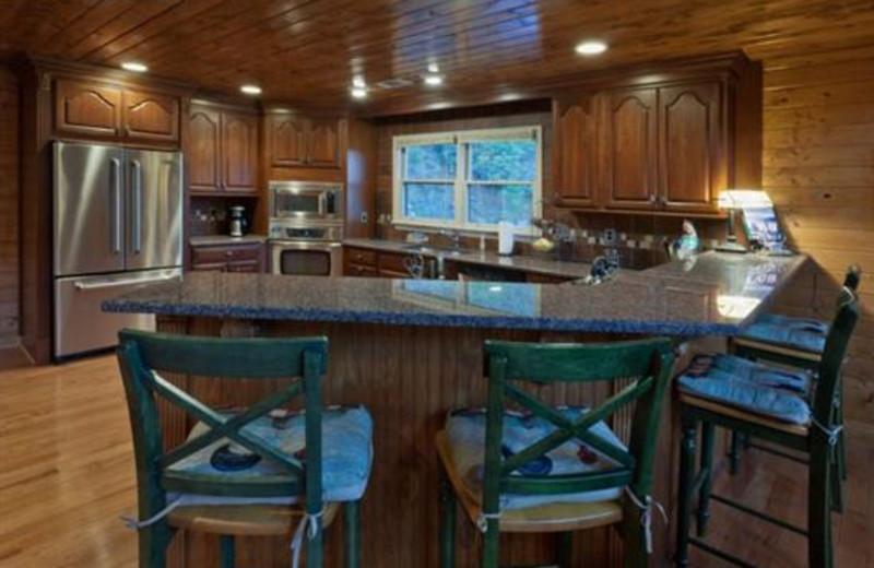 Cabin kitchen at Blue Sky Cabin Rentals.