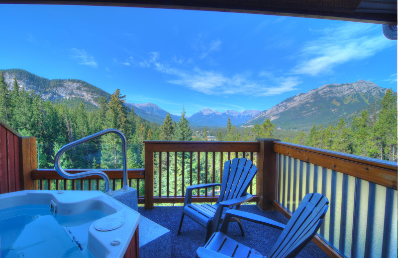Guest balcony at Hidden Ridge Resort.