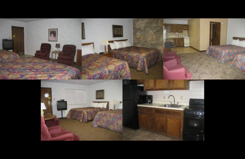 Guest rooms at Cliffview Resort.