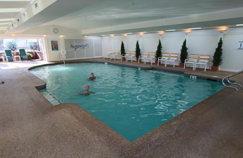 Indoor pool at The Meadowmere Resort.